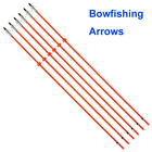 "Powerful Bowfishing Arrows 32"" Fiberglass Shaft 8mm w/ for Fish Hunting Shooting"