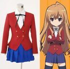 TIGER×DRAGON Aisaka Taiga Toradora Gal Uniform Cosplay Costume Custom Made Size