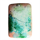 Drilled Chrysocolla Rectangle Cabochon, Size 47x32x6.5 MM, Pndant Stone, AG-9454
