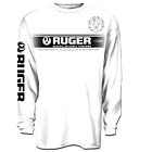 Ruger White Block Long Sleeve Cotton T-Shirt, Firearms Made in the USA XL - 3XL  image