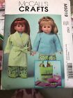 """Mc Call's Sewing Pattern 18"""" merican Girl Dolls Clothes Pajamas M5019"""