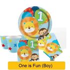 ONE IS FUN BOY Age 1 First 1st Birthday Party - Tableware Supplies Decorations