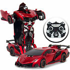 BCP 2.4GHz Kids Transforming Remote Control Robot Car Toy w/ LED Lights, Sounds