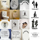 Funny Toilet Seat Sticker Vinyl Wall Art Decals Bathroom And Washroom Decor Diy