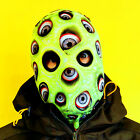 3D EFFECT EYEBALL DEMON SLIME GREEN FACE SKIN LYCRA FABRIC FACE MASK HALLOWEEN