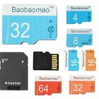 LOT Micro SD Card 4 8 16 32 64GB TF Flash Memory Card Adapter Camera Phone EV