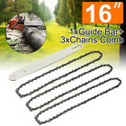 16'' Chainsaw Guide Bar + 3x Chains for STIHL 009 012 021 E180 MS180 MS190 MS250