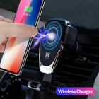 Qi FAST 10W Wireless Car Charger Air Vent Mount Phone Holder For iPhone Samsung