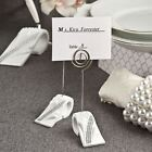 Bling Collection Place Card Photo Holders White And Silver Detail