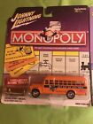 JOHNNY LIGHTNING - MONOPOLY GET OUT OF JAIL FREE - '56 CHEVY SCHOOL BUS / TOKEN