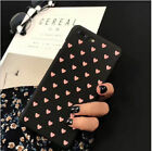 Cute Fashion Love Heart Painted Phone Case For iPhone 5S 6 7 8 Plus Couples Case