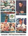 1992 Topps Stadium Club Dome Baseball Set ** Pick Your Team ** See Checklist