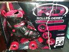 rollar durby size 3-6 boys red and black dollar skates