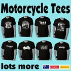 Funny Motorbike T-Shirts Biker Motorcycle Cafe Racer Mens t shirt Fathers Day $19.97 AUD on eBay