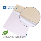 "2"" Organic Latex Topper with Organic Cotton Cover Included - Medium FIrmness image"