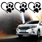 Paw With Peach Heart Shape Decal Ticker SUV Car Animal Dog Cat Love Sticker S