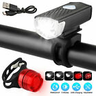 LED USB Rechargeable Bycicle Light Headlamp Headlight Bike Front Rear Lamp 3Mode