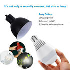 Wireless Home Security Surveillance Smart Camera WiFi Panoramic 360 Degree Lamp
