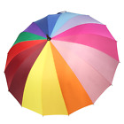 Strong Umbrella Compact Large Windproof 210T Waterproof Durable Rainbow...