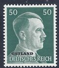 Nazi Germany Third Reich Overprint Ostland Estoina 50 Hitler stamp WW2 ERA