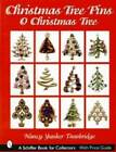 Christmas Tree Pin Guide Rhinestone Signed Xmas Jewelry