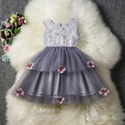 Girl Bridesmaid Dress Baby Flower Kids Party Embroidery Wedding Dresses Princess