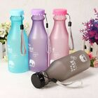 Portable Leak-proof Unbreakable Cycling Sports Travel Camping Water Bottle 550ML