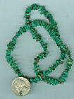 16 Inch Strand of Stabilized American Turquoise Chip Beads Fox Mine