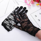 Women Lace Driving Short Gloves for UV Protect Bridal Wedding Party S
