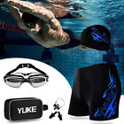 1 Set Swimming Goggles Swim Cap Ear Plug Nose Clip Adult Men Swimwear Suit Hot