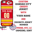 KANSAS CITY CHIEFS NFL JERSEY PHONE CASE COVER FITS iPHONE SAMSUNG etc NAME & #