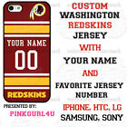 WASHINGTON REDSKINS NFL PHONE CASE COVER FOR iPHONE SAMSUNG LG MOTO WITH NAME#. $26.98 USD on eBay