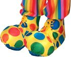 Halloween Costume Clown Shoe Covers Adult Theater Prop Stage Polka Dot Yellow