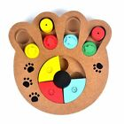 Pet Toy Puppy Kitten Wooden Educational Interactive Puzzle Bone Dog Paw Shaped