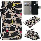 Little cat PU Leather Wallet Case Flip Cover Stand Card Slot For All Phones LG