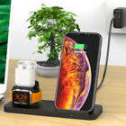 3in1 Qi Fast Wireless Charger Dock Stand Station For Apple iWatch iPhone AirPod