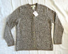 APPLESEEDS Comfy thick Cardigan Sweater with detailed embroidered edge Brown M