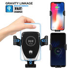 Automatic Clamping Wireless Fast Car Charger Charging Mount For iPhone X Samsung