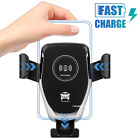 Automatic Clamping Wireless Car Charger Fast Charging Mount For iPhone X Samsung