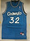 Shaquille O'Neal Orlando Magic Blue Striped Throwback Stitched Jersey Mens S-XXL on eBay