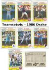 1986 Drake Big Hitters Super Pitchers Baseball Set ** Pick Your Team **