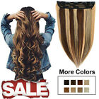 clip ins human hair extensions 100 remy long soft highlight brown blonde 1piece