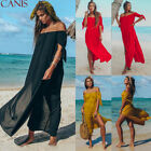 Womens Maxi Summer Beach Long Dress Off Shoulder Evening Cocktail Party Skirts