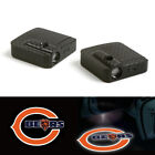2X Chicago Bears Wireless Car Door Logo Welcome Laser Projector Ghost Led Light