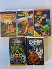 Lot of 5 VHS Lot The Land Before Time~Scooy-Doo~Jimmy Neutron~Harriet The Spy
