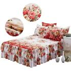 Dust Ruffle Polyester Bed Skirt Pastoral Quilted Bedspread Pillow Cases Bedroom image