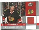 09-10 Upper Deck Hame Used Jersey Brian Campbell GJ-BC