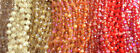 8mm Frosted Flat Coin Chinese Crystal Glass Bead Q2 Strands Red Orange Yellow
