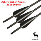 Carbon Arrows Spine 400 Archery Arrows for Recurve Bow Screw in Tips 6Pcs