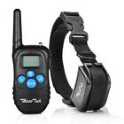 Dog Shock Training Collar Rechargeable LCD Remote Control Waterproof 330 Yards For Sale